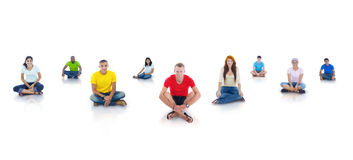 Group of Students Sitting and Smiling Stock Image