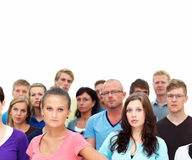 Group of students standing under copyspace Royalty Free Stock Images