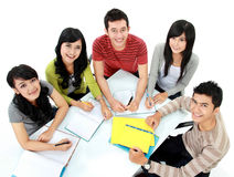 Group of students studying royalty free stock images