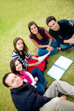 Group of students studying Royalty Free Stock Photo