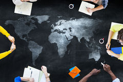 Group of Students Studying About Global Issues Stock Photography