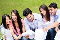 Group of students outdoors Stock Photos
