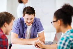Group of students studying at school Royalty Free Stock Image