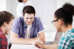 Group of students studying at school Royalty Free Stock Photography