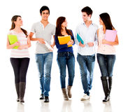 Group of students talking Stock Images