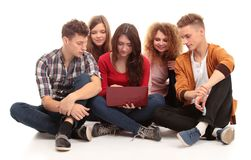 Group of students talking Stock Image