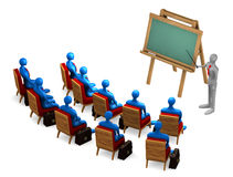 Group of students and teacher Stock Images