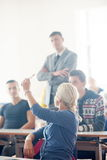 Group of students with teacher on class Royalty Free Stock Image
