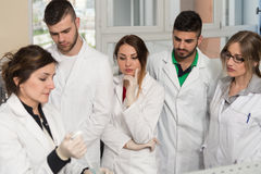Group Of Students With Teacher Learning Lessons Stock Photos