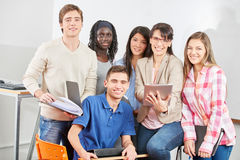 Group of students with teacher Stock Photos