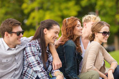 Group of students or teenagers hanging out Stock Photography