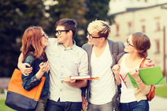 Group of students or teenagers hanging out Stock Photo