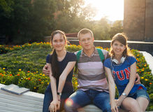 Group of students or teenagers Stock Images
