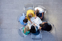 Group of students  top view Royalty Free Stock Image
