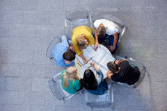 Group of students  top view Royalty Free Stock Images