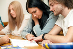 Group of students training Stock Image