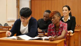 Group of Students at University stock video footage