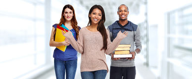 Group of students. Group of young smiling students. Education concept background royalty free stock image