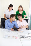 Group studying architecture Royalty Free Stock Photos