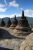 A Group of Stupa on Borobudur Temple Stock Photo
