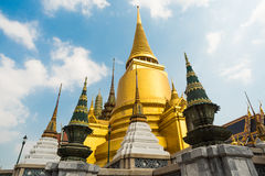 Group Stupa in Buddhism. Stupa in Buddhism at Thailand Royalty Free Stock Image