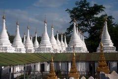 Group of stupas in Sanda Muni Paya temple of Myanmar. Royalty Free Stock Photography