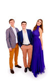 Group of a stylish young people Royalty Free Stock Images