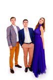 Group of a stylish young people Stock Photography