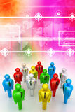 Group of stylized coloured people Stock Image