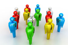 Group of stylized coloured people Stock Images
