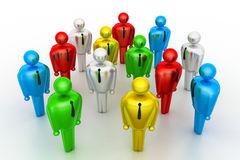 Group of stylized coloured people Stock Photography