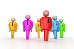 Group of stylized coloured people Royalty Free Stock Photo