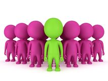 Group of stylized people stand on white Royalty Free Stock Photos