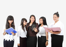 Group of success business woman in work Royalty Free Stock Images