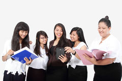 Group of success business woman in work Royalty Free Stock Image