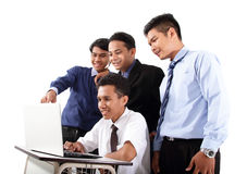 Group of success businessman in work stock photography