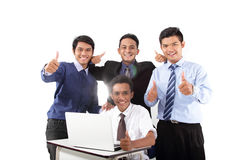 Group of success businessman in work royalty free stock image