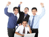 Group of success businessman in work Stock Photo