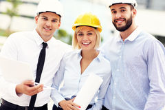 Group of successful architects Stock Photography