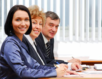 Group of successful business people. Working in the office royalty free stock photography