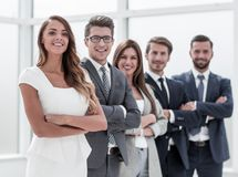 Group of successful business people. The concept of teamwork royalty free stock image