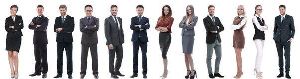 Group of successful business people isolated on white royalty free stock image