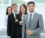 Group of successful business people looking confident Stock Photos