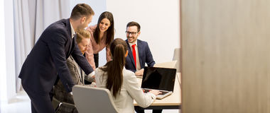 Group of successful business people at meeting in office Stock Photography