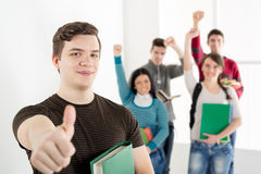 Group Of Successful Students Royalty Free Stock Photos