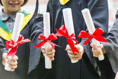 Group of successful students on their graduation Royalty Free Stock Images