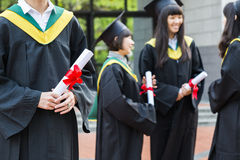 Group of successful students on their graduation Stock Photography