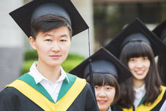 Group of successful students on their graduation Royalty Free Stock Photography