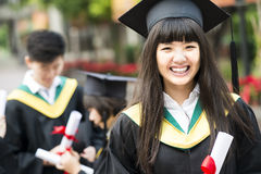 Group of successful students on their graduation Stock Images