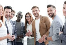 Group of successful young employees royalty free stock photo
